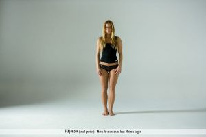 Flexible model Chrissy Fox gets completely naked during a solo shoot