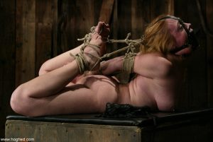 Amateur MILF Cyd Black gets fondled and fingered by her handler while tied up