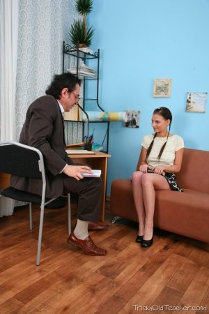 Hot schoolgirl Alissa gets disciplined and fucked hard by her old teacher
