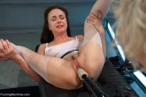MILFs Dylan Ryan & Cytherea squirt while getting fucked by machine dildos 1