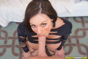 Hot brunette chick with a sexy ass gets banged by a large cock