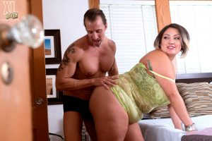 Hot Asian BBW SinFul Celeste lets her great big tits hang to fuck doggystyle