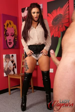 Lady Rara Curves poses in her lingerie as she makes her employee strip