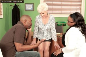 Mature sex therapist can't resist having sex with a hung black male