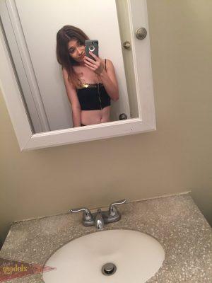 Petite teen Ariel Mc Gwire makes her nude modeling debut in bathroom selfies
