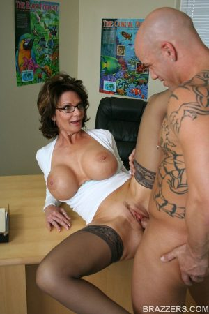 Mature yet sexy Deauxma with big tits enjoys hardcore ass fuck