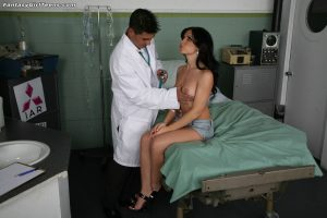 Cute Spanish babe Rebeca Linares gets checked and ass fucked by her doctor