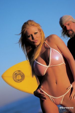 Hot blonde Brigitte Kerkove indulges in anal play after a day of surfboarding