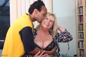 Cheating British housewife gets banged from behind by her black lover