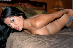 Exotic wife Alexis Amore exposes her huge tits and masturbates with a toy