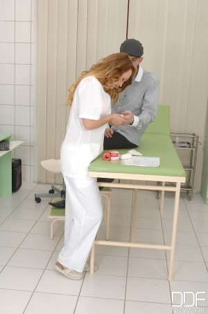 Hungarian nurse Blue Angel gets banged by a big dicked patient at the hospital