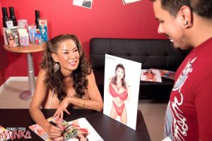 Mature Asian woman Minka guides a young boy thru his first sex lessons