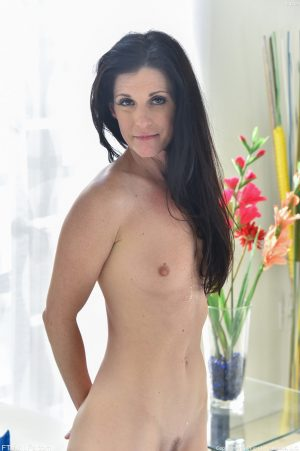 Dark haired MILF with tiny tits India gets her twat stuffed roughly