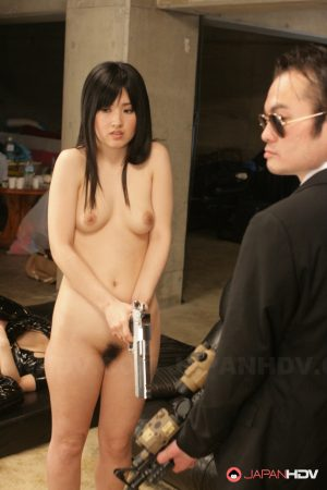 Shy Japanese teen Aika gets forced to strip and toy her hairy coochie 1