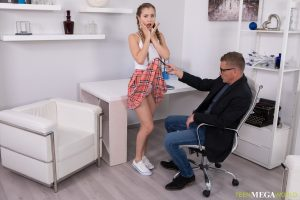 Petite schoolgirl Mary Rock engages in hardcore sex with her tutor