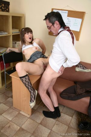 Teen nympho Wendy gets dicked by her horny teacher at his office