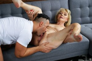 Joyful granny Szuzanne, Mugur gets her mature pussy pounded in bed