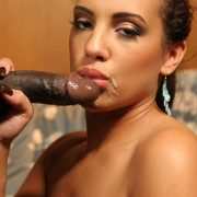 White chick Victoria Allure gives it up to an African American male