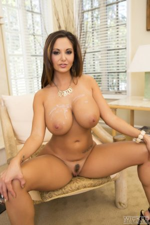 French seductress Ava Addams fucks and gets her massive tits jizzed