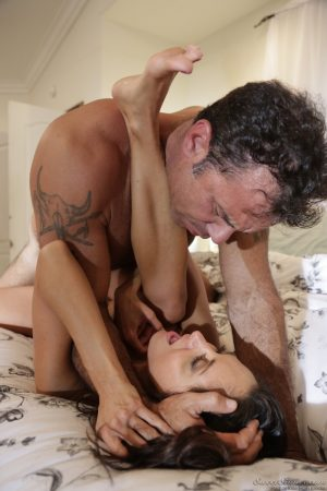 Big boobed brunette wife Ava Addams insists on a hard fuck before sleeping
