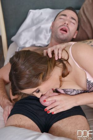 Stocking adorned Euro chick Evelina Darling taking anal in MMF threesome