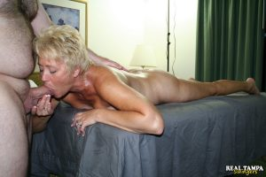 Horny mature lady Tracy Lick seduces her masseur during a massage