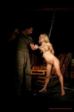 Young submissive teen Janny gets her coochie fisted and dicked in BDSM scene