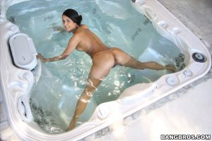 Fantastic pornstar with a hot bum Abby Lee Brazil gets rammed in the jacuzzi