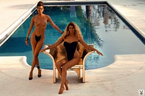 Great looking Marilyn Cole and her Playboy girlfriends posing in hot bikinis