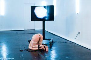 Domina MILF Bobbi Starr flogging & toying her lesbian BDSM sex slave
