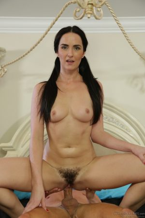Pigtailed MILF with tiny tits Bianca Breeze gets fucked by a horny young man