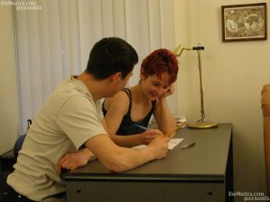 Redhead teen Vlada visits her classmate and gets rammed on the table