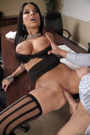 Hot secretary Anissa Kate having sweet anal sex with the CEO in his office
