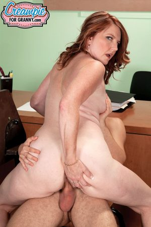 Horny teacher Stacie King gets mature fatty pussy poked by cheating student