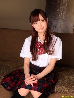 Adorable Asian schoolgirl Yuria Mano gets railed while standing up