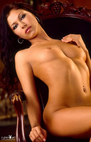 Beautiful solo model Chrissy Nicole Herbert gets naked for centerfold spread