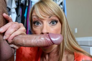 Busty mom with sexy tan lines Shayla Leveaux gets screwed while doing laundry