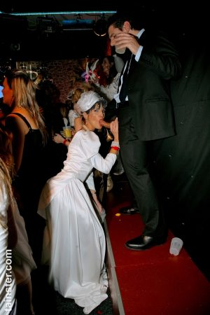 Wedding party becomes a hot interracial orgy when the bride gets on her knees