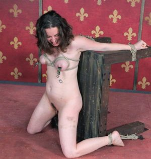 Restrained female Amy Nicole is tortured while being forcefully masturbated xxx photos gallery