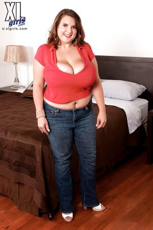 Chubby cutie in jeans Charlie Cooper goes naughty and strips down to panties