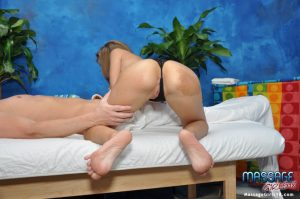 18 year old masseuse with an ass to die for rides on top of her client
