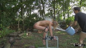 Skinny blonde girl is in training to be her new Master's pain slut