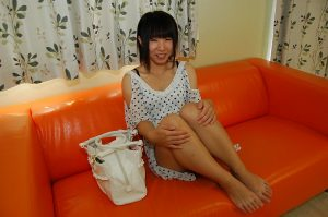 Shy asian teen with skinny curves undressing and vibing her slit