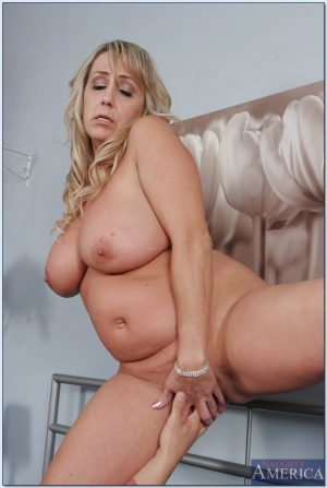 Two insatiable blonde moms give a lucky stud a double BJ and fuck him