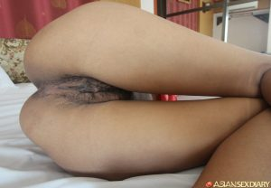 Horny Asian amateur On gets a messy POV hairy pussy fuck and cum facial