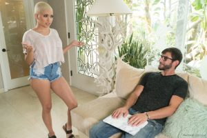 Short haired doll Aaliyah Hadid takes hard pounding with her horny lover