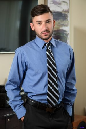 Kinky gays Scott Demarco and Draven Navarro fuck each other in the office