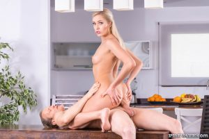 Adorable Ukrainian blonde Angelika Grays takes a rod in her tasty vagina