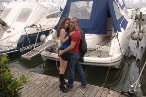 Austrian amateur Larissa Gold presents her twat and big ass on a boat