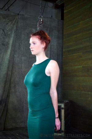 Pale redhead Ashley Lane submits to spending a day of her life in bondage